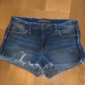 """Joe's jean shorts with novelty """"pocket"""""""